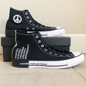 Converse Seek Peace CTAS Hi Black White 12